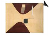 Proun P23, No. 6 Posters by El Lissitzky