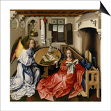 The Annunciation (Merode Altarpiec), Ca 1428-1432 Print by Robert Campin