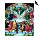 The Adoration of the Trinity (The Landauer Altarpiece), 1511 Prints by Albrecht Durer