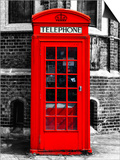 Red Phone Booth in London - City of London - UK - England - United Kingdom - Europe Poster by Philippe Hugonnard
