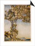 Tempest, Instruments Prints by Arthur Rackham