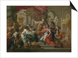 Alexander the Great in the Temple of Jerusalem Plakat af Sebastiano Conca