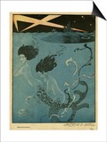 Mermaids and U-Boats Posters by Georges Barbier