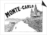Monte Carlo Advert Posters by G Renault