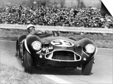 Stirling Moss Diving an Aston Martin DB3S, Goodwood, West Sussex, 1956 Print