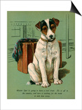 Dog with Luggage Posters