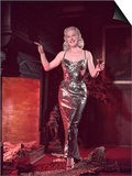 Glitzy Dress 1950s Print by Charles Woof