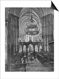 Interior of Christ Church Cathedral, Dublin, Ireland, 1924-1926 Art by  Valentine & Sons