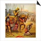 The Battle of Agincourt, 1415 Prints