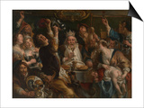 The King Drinks Posters by Jacob Jordaens