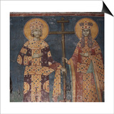 Exaltation of the Cross. Saints Constantine the Great and Helena, 1321-1322 Posters