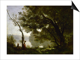 Recollection of Mortefontaine Posters by Jean-Baptiste Camille Corot