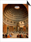 Interior of the Pantheon, Rome Prints by Giovanni Paolo Panini