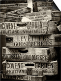 Old Wooden Crates used on Markets in London - Portobello Road Market - Notting Hill - UK - England Poster by Philippe Hugonnard