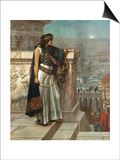 Zenobia's Last Look on Palmyra, 1888 Print by Herbert Gustave Schmalz