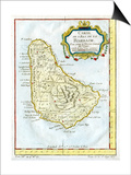 Map of Barbados, C1764 Poster