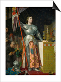 Joan of Arc at the Coronation of Charles VII in the Cathedral at Reims Prints by Jean-Auguste-Dominique Ingres