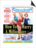 How to Marry a Millionaire - Movie Poster Reproduction Art