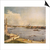 The Thames and the City of London from Richmond House, Whitehall, Westminster, C1747 Poster by  Canaletto