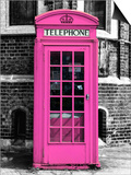 Red Phone Booth in London painted Pink - City of London - UK - England - United Kingdom - Europe Posters by Philippe Hugonnard