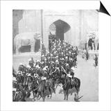 A Procession Passing Through the Delhi Gate, Lahore, Pakistan, 1913 Prints by HD Girdwood