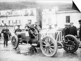 Vincenzo Lancia Taking Part in the Targa Florio Race, Sicily, April 1907 Art