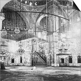 Interior, Mosque of Muhammad Ali, Cairo, Egypt, 1899 Prints by BL Singley