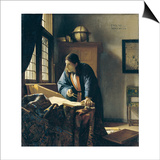 The Geographer Posters by Jan Vermeer
