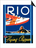 Rio by Flying Clipper Plakat af Brian James