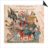 Caravan of Pilgrims in Ramleh (From a Manuscript of Maqamat of Al-Harir), 1237 Posters by Yahya ibn Mahmud Al-Wasiti