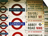Antique Enamelled Signs - Subway Station Signs - Wall Signs - Notting Hill - London - UK - England Prints by Philippe Hugonnard