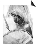 A Masai Warrior, Africa, 1936 Posters