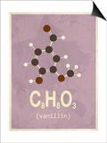 Molecule Vanilin Plakater