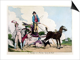 Laying the Dust Print by Thomas Rowlandson