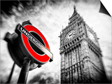 Westminster Underground Sign - Subway Station Sign - Big Ben - City of London - UK - England Posters by Philippe Hugonnard