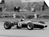 Jim Clark Driving the Lotus 49 at the British Grand Prix, Silverstone, 1967 Prints