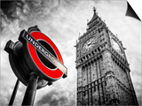 Westminster Underground Sign - Subway Station Sign - Big Ben - City of London - UK - England Arte por Philippe Hugonnard