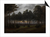 The Times of Day: the Evening, 1821-1822 Posters by Caspar David Friedrich