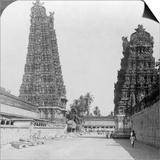 Gopuram, Sri Meenakshi Hindu Temple, Madurai, Tamil Nadu, India, C1900s Posters by  Underwood & Underwood
