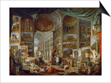 Picture Gallery with Views of Ancient Rome (Roma Antic) Posters by Giovanni Paolo Panini