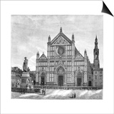 The Church and Piazza of Santa Croce Basilica, Florence, Italy, 1882 Posters
