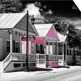 Key West Architecture - The Pink House - Florida Art by Philippe Hugonnard