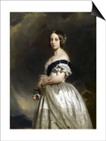 Portrait of Queen Victoria Posters by Franz Xavier Winterhalter