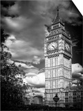 Big Ben - City of London - UK - England - United Kingdom - Europe - Black and White Photography Poster by Philippe Hugonnard