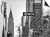 View of The Chrysler Building and Avenue of the Americas Sign - Manhattan - New York Prints by Philippe Hugonnard