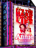 Billboard of Annie The Musical at the Palace Theatre on Broadway and Times Square at Night Print by Philippe Hugonnard