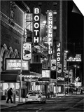 The Booth Theatre at Broadway - Urban Street Scene by Night with a NYPD Police Car - Manhattan Posters by Philippe Hugonnard
