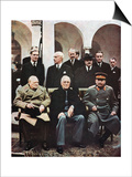 Yalta Conference of Allied Leaders, World War II, 4-11 February 1945 Print