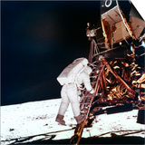 Edwin Buzz Aldrin Descends the Steps of the Lunar Module Ladder to Walk on the Moon, 1969 Poster