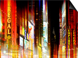 Urban Stretch Series - Times Square by Night - Manhattan - New York Posters by Philippe Hugonnard